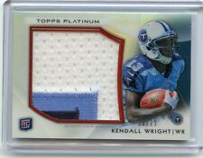 2012 TOPPS PLATINUM #PRP-KW KENDALL WRIGHT 3-COLOR PATCH ROOKIE RC #33/71 TITANS