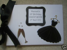 18th/21st/30th/40th BIRTHDAY PARTY GUEST BOOK/PHOTO ALBUM Dress and Champagne