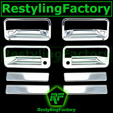 1992-1995 Chevy Blazer Triple Chrome Plated 4 Door Handle+WITH PSG Keyhole Cover
