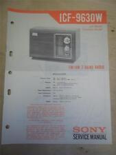 Sony Service Manual~ICF-9630W 2 Band Radio Receiver~Original~Repair