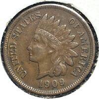 1909 1C Indian Cent (60401)