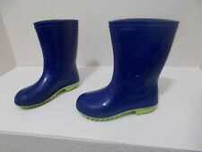BOYS GIRLS BLUE RUBBER RAIN MUCK MUD WATERPROOF BOOTS SZ 12 TODDLER CANADA MADE