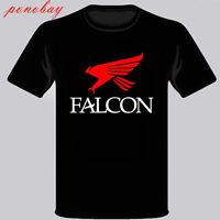 New Falcon Fishing Rod Logo Men's Black T-Shirt Size S M L XL 2XL 3XL
