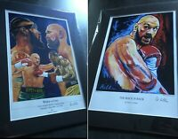 Tyson fury & Wilder v Fury Mounted Art Prints By Killian