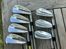 Nice Mizuno Mp-20 Hmb Forged 4-Pw Iron Set W/ Amt Tour White S300 Stiff Flex