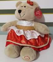 STARBUCKS 109TH BEARISTA TEDDY BEAR PLUSH TOY! 2013 SOFT TOY ABOUT 17CM SEATED!
