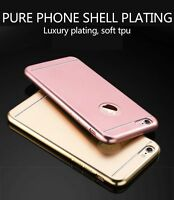Luxury Thin Slim Plated Rubber Soft TPU Case Cover for iPhone 7 6 6s Plus Kk