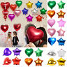 "5pcs 18"" Colorful Love Heart Star Foil Helium Balloons Wedding Party Birthday"
