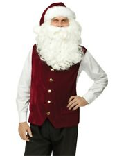 Fun World Costumes Mens Adult Deluxe Velour Santa Vest and Hat Red/white One
