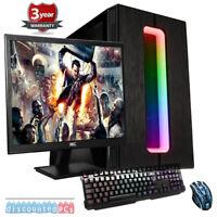 Ryzen 5 Six Core AMD 23.6'' Desktop Gaming PC Bundle 16GB 2TB RX 580 8GB cp2