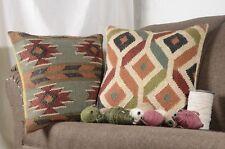 2 set of Indian Jute Kilim Cushion Cover Handwoven  Moroccan Rug Jute Pillows