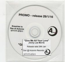 (HV208) Jimmy Lee Morris, Give Me All Your Love - 2016 DJ CD