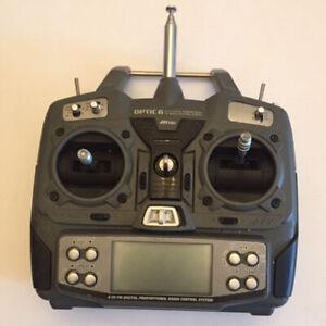 OPTIC 6 CH HITEC DIGITAL PROPORTIONAL FM RADIO CONTRO SYSTEM CON MODULO HPF-MI