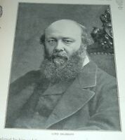 1899 Antique Print LORD SALISBURY Prime Minister of the United Kingdom