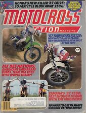 MOTOCROSS ACTION - January 1987 Moorewood, Brooks & Winn / MX Des Nations