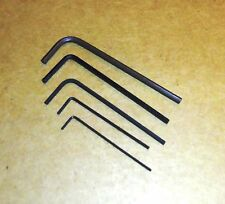 """One each .028""""  .035"""" .050"""" 1/16  5/64 Hex Keys Alloy Steel Allen Wrenches - USA"""