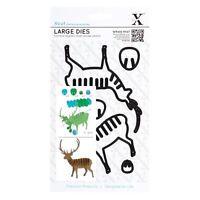 SALE Large Dies (6pcs) - Stag Christmas Xcut Emboss Shim Cut Detail Stencil