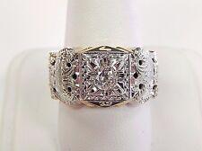 14K Yellow Gold Masonic Ring Double Eagle 32nd .50ct Diamond 1/2ct Size 10 14kt