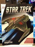 Star Trek Romulan Shuttle with Magazine #77 by Eaglemoss NEW LQQK!!!
