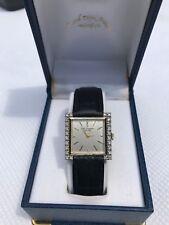 Jules Jurgensen 14k two-tone White & Yellow Gold diamond Watch 3 Leather straps