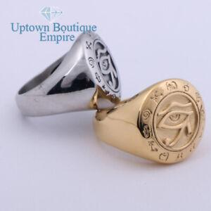Egyptian Egypt Eye of Horus Men's Stainless Steel Symbol Ring Size:8-13#AG