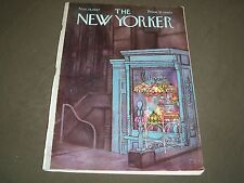1967 NOVEMBER 18 NEW YORKER MAGAZINE - BEAUTIFUL FRONT COVER FOR FRAMING- O 5160