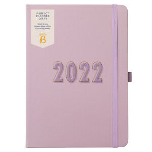 SECONDS Busy B Perfect Planner 2022 Week to View Diary   Lilac   Jan - Dec 2022