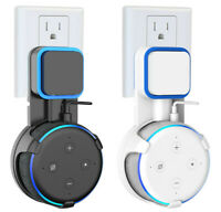 2X Outlet Wall Mount Hanger Stand for Amazon Echo Dot 3rd Gen Space Save