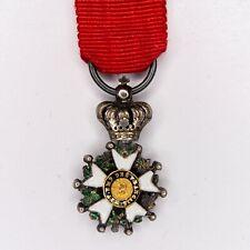 Médaille miniature de la légion d'honneur d'époque Présidence. Centre en or