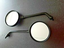 HIGH QUALITY 8MM RIGHT HAND BLACK ROUND MIRRORS MOTORCYCLE OR SCOOTER 580208