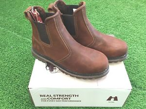 """XPERT Heritage """"Trader"""" Safety Boots (Crazy Horse Brown)"""