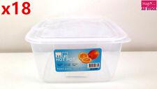 18pcs 2L Plastic Food Container Fresh Food Box w/ Lid Home Motel Restaurant 3651