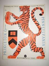 1946 PRINCETON VS PENNSYLVANIA COLLEGE FOOTBALL PROGRAM - TUB BN-5