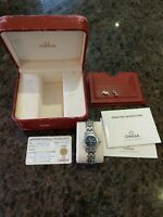 Ladies 28mm Omega Seamaster Professional Chronometer 300m watch box & papers