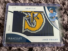 Jake Fraley 2020 Panini Immaculate Socks SSP Patch #1/4 Seattle Mariners MLB