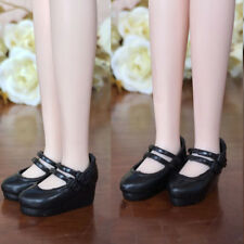 Black Wedge Heel Shoes For Blythe Dolls 1/6 High Heel Shoes For Licca Doll Toy