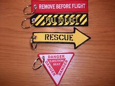 SET OF 4 RAF Remove Before Flight Pull To Eject Rescue Ejection Seat Live .
