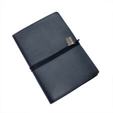 WORLD TRAVEL JOURNAL Black Embossed Bucket List Holiday Travellers Notepad Book