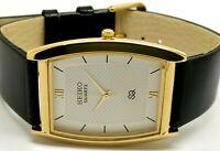 Seiko Quartz Super Slim Men's Gold Plated Excellent Watch Run