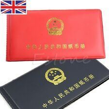 New Book Collecting Collection Pockets Album Paper Money Holders Storage