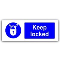 Aluminium Sign-Keep Locked-Metal-Door Notice Business Safety Gate Lock Key Code