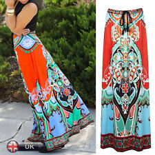 2016 Women Ladies Summer Long Skirt Beach Casual Party Loose Dress Full Length