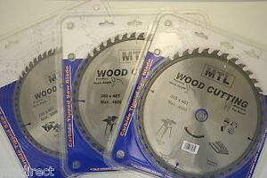 MTL Brand 260mm, 300mm & 305mm dia. TCT Circular Saw Blades for Wood