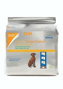 Kannis Natural Chicken Dry Dog Food for Large Breed Adults - 1 Kg 3 Kg 15 Kg