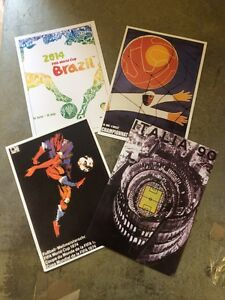 Germany World Cup Winners Champions 54 74 90 2014 Postcards of Fifa Posters x 4