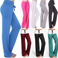 Women Yoga Pants Soft Casual Comfortable Fitness Gym Workout Wide Leg Trousers Q