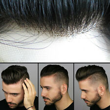 Human Hair Extensions System French Lace Toupee Human Hair for Men Noblehairplus