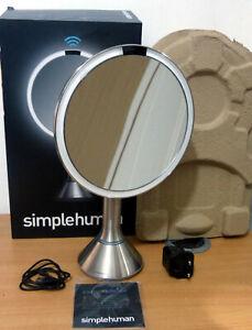 Simplehuman ST3026 20CM Sensor Mirror, Touch-Control Brightness -  Brushed Steel