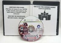 Assassin's Creed II Xbox 360 2009 TESTED DISC-ONLY FAST TRACKED SHIPPING