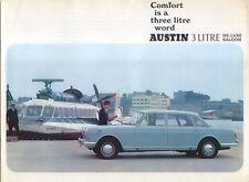 Austin 3 Litre De-Luxe Saloon Original UK Sales Brochure Pub No. 2488 Oct. 1968